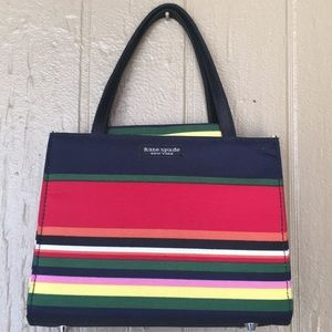Kate Spade canvas striped vintage mini bag
